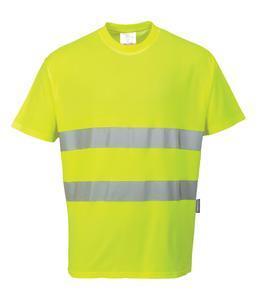 Tričko HiVis bavlna Comfort, yellow | S - 2