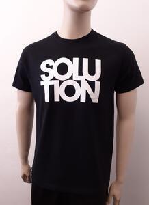 Tričko pánské s nápisem / více druhů, black SOLUTION | XXL - 3