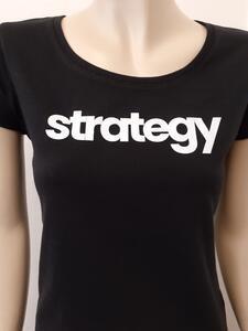 Tričko dámské s nápisem / více druhů, black STRATEGY | L - 3