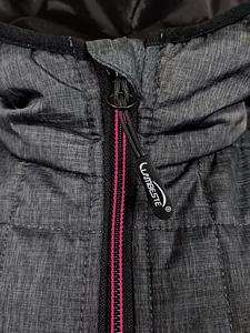 Bunda dámská combi pletený fleece, anthracite-melange/ red-melange | M - 3
