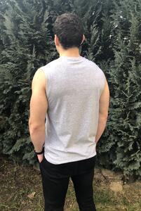Tričko pánské bez rukávů, light melange | S - 3