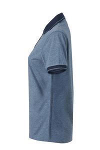 Polokošile dámská single jersey melír, blue melange/ navy | XXL - 3