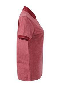 Polokošile dámská single jersey melír, wine melange/ wine | XL - 3