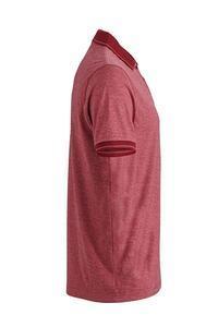 Polokošile pánská single jersey melír, wine melange/ wine | S - 3