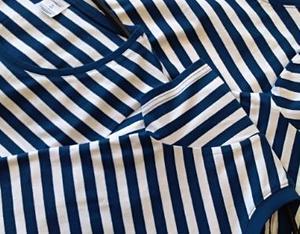 Tričko dámské pruhy, pruhy navy/white | L - 3