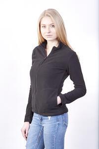 Mikina dámská fleece, kapsy, black | M - 3