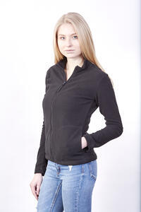 Mikina dámská fleece, kapsy, black | XL - 3