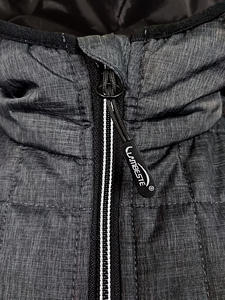 Bunda pánská combi pletený fleece, anthracite-melange/ black-melange | 3XL - 4