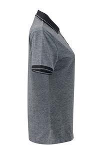 Polokošile dámská single jersey melír, black melange/ black | S - 4