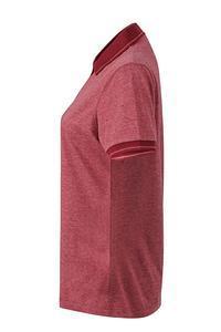 Polokošile dámská single jersey melír, wine melange/ wine | XL - 4