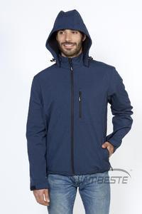 Softshellová bunda pánská, navy-melange | 3XL - 6